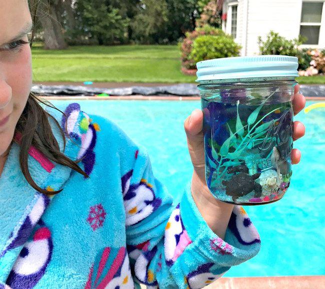 Mason Jar Sea Aquarium Tutorial » Where the Green Grass Grows Designs