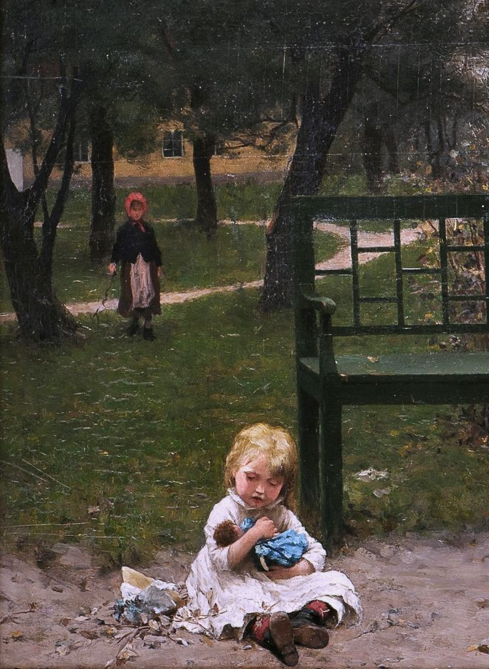 "Erik Theodor Werenskiold, ""En forloren sønn"" (""A Prodigal Son""), detail (without the prodigal son--heh)"