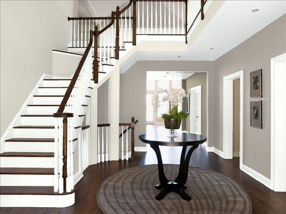 Silver Fox And Rodeo Stair Benjamin Moore Personal Color