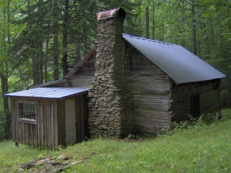 The Avent Cabin, constructed ca. 1850. The cabin is located along Jakes Creek, a mile or so above Elkmont, Tennessee in the Great Smoky Mountains National Park.