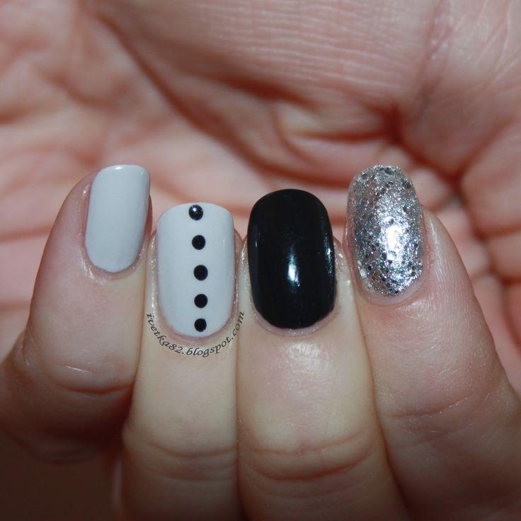 Gray & Black & Silversparkle