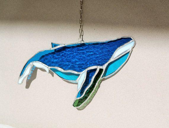 Горбатый кит ловец снов санкетчер темно-синий от caracoja на Etsy