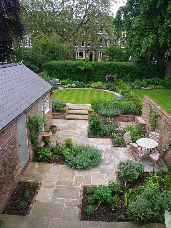 Brick Edging On Garden Paving Small Cottage Garden