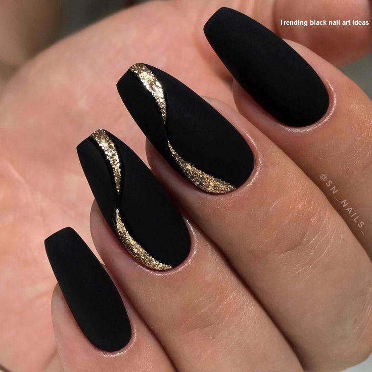 20 Simple Black Nail Art Design Ideas 1 Black Nail Designs