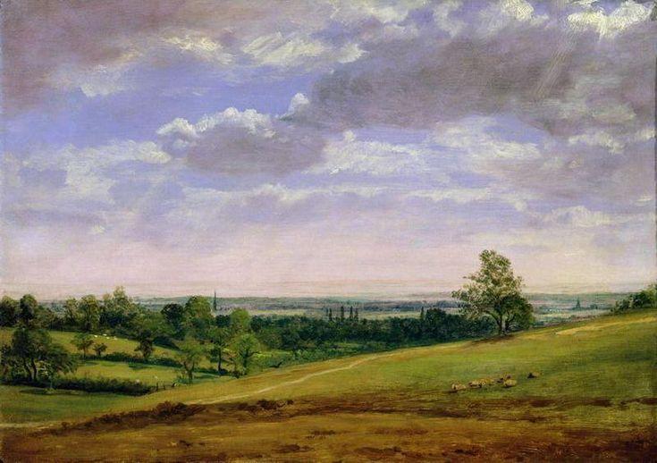 Vue de Highgate Hill, huile de John Constable (1776-1837, United Kingdom)