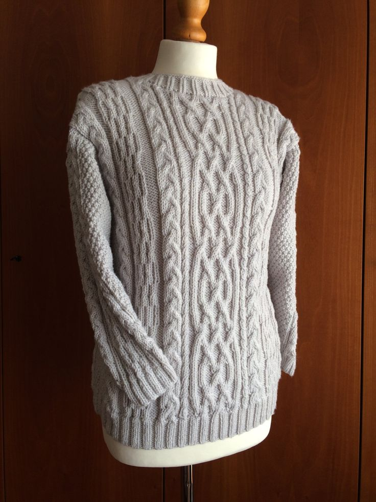 Knitted sweater 100% pure Merino wool - Size M - Ready to ship by DanielaDefilippi on Etsy