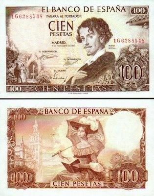 100 Pesetas - España