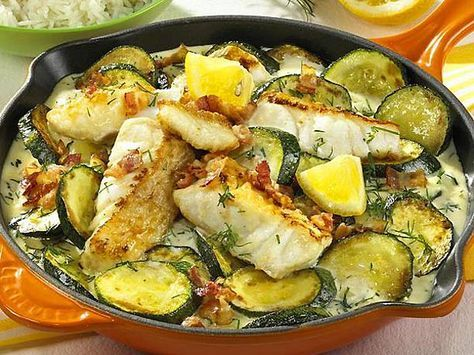 Zucchini-Fisch-Pfanne