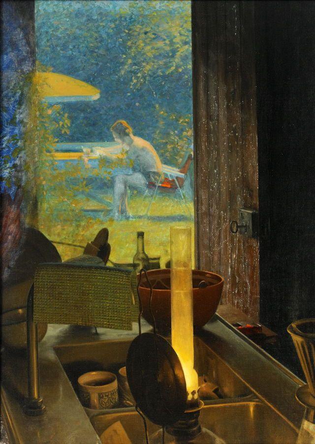 Ola Billgren (Swedish, 1940-2001), Sommar [Summer], 1969. Oil on canvas, 98 x 71 cm.