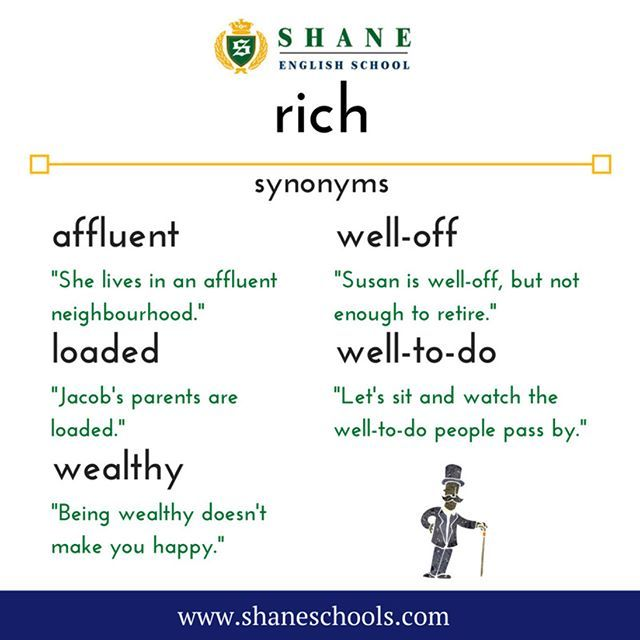 Which word would you use for 'rich'? #ShaneEnglishSchool #ShaneEnglish #ShaneSchools #English #Englishclass #Englishlesson #Englishfun #Englishisfun #language #languagelearning #education #educational #word #words #wordoftheday #vocabulary #vocab #synonym #differentwords
