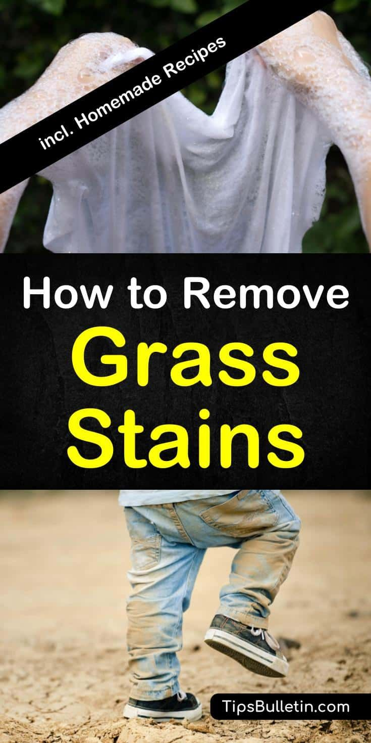 4 Amazing Ways To Remove Grass Stains Grass Stain Remover Grass Stains How To Remove Grass