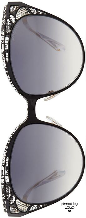 Jimmy Choo Estelle Lace-Pattern Cat-Eye Sunglasses | LOLO❤︎