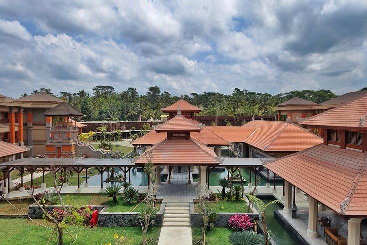 Wantilan lobby from above at Padma Resort Ubud.