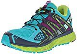 Salomon Women's X-Mission 3 W Trail Running Shoe, Teal Blue/Granny Green/Passion Purple, 7.5 B US   Multicolored running shoe featuring padded collar and Quicklace system with lace pocket for easy on/off Molded EVA midsole for cushioning on urban or trail environments 3D Grip for traction...
