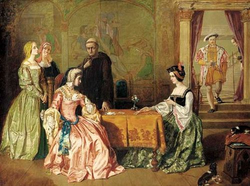 Katherine of Aragon plays cards with Anne Boleyn - tudor-history Photo... I don't think either of them won.. one lost her head the other her crown.