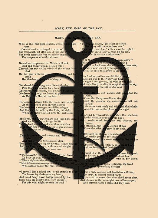 Faith Hope Love art print Anchor poster by eebookprints on Etsy ist eins der nächste die kommen sollen, wobei meine Hoffnung so langsam schwindet...hatte ich früher schon als Anhänger für eine Kette...