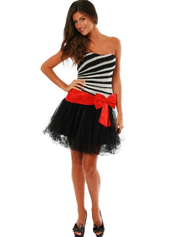 Red zebra print prom dresses