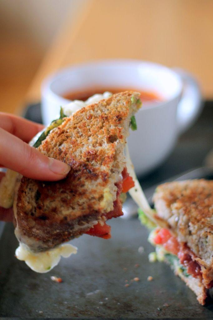 ... Bacon, Avocado, & Mozzarella Grilled Cheese + Artisan Tomato Soup