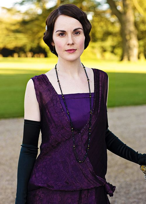 Lady Mary (Michelle Dockery) in purple.