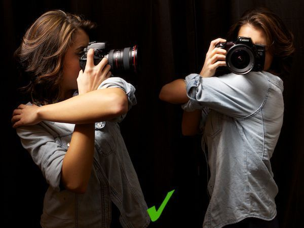 Eine Kamera halten und schärfere Fotos aufnehmen …