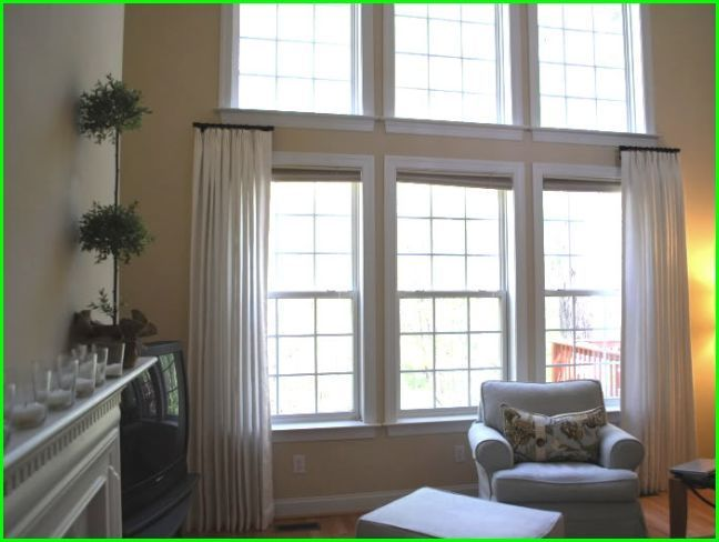 Image Result For How To Hang Half Curtain Rods Window Treatments Living Room Unique Window Treatments Living Room Windows #window #drapes #for #living #room