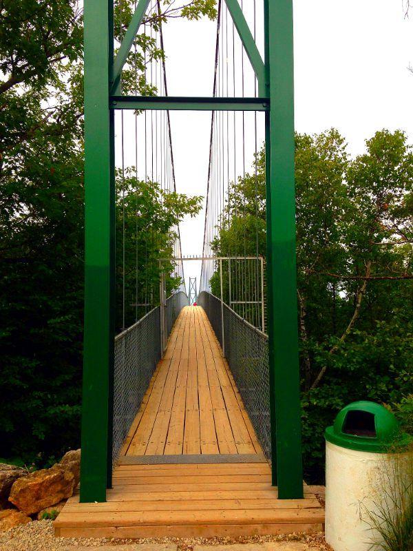 Suspension bridge - Blue Mountain - Ontario - Canada