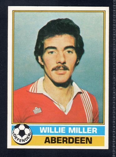 TOPPS FOOTBALLERS SCOTTISH-YELLOW BACK WILLIE MILLER-ABERDEEN