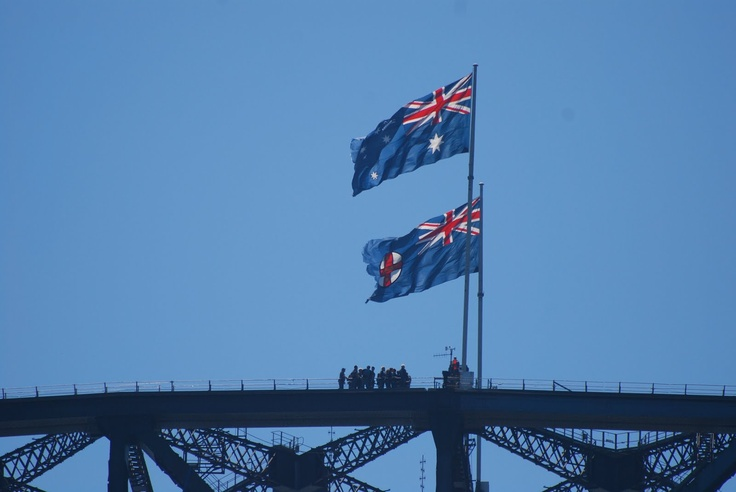 A climb on the Sydney Harbour Bridge on a fine day is very popular.