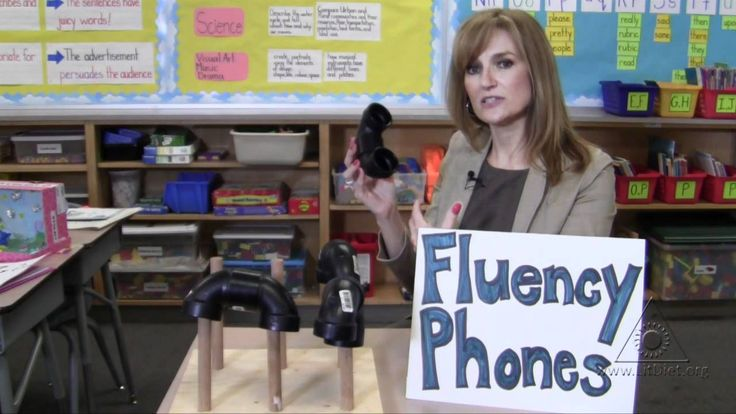 INSTRUCTION: Fluency phones are a fun and motivating way to get students to pay attention to their own fluency and expression when reading. These phones amplify students' reading voices, and encourage students to reflect on the way they sound when they are reading out loud.