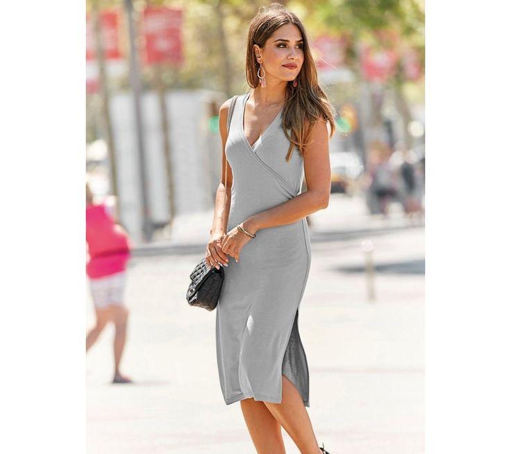 Šaty bez rukávů, s překříženým výstřihem | modino.cz #modino_cz #modino_style #style #fashion #summer #bestseller