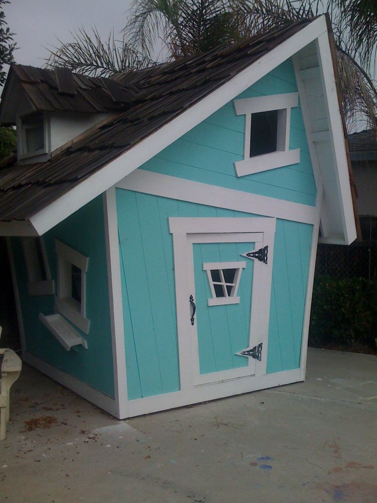 How To Build A Crooked Playhouse Plans - WoodWorking ...