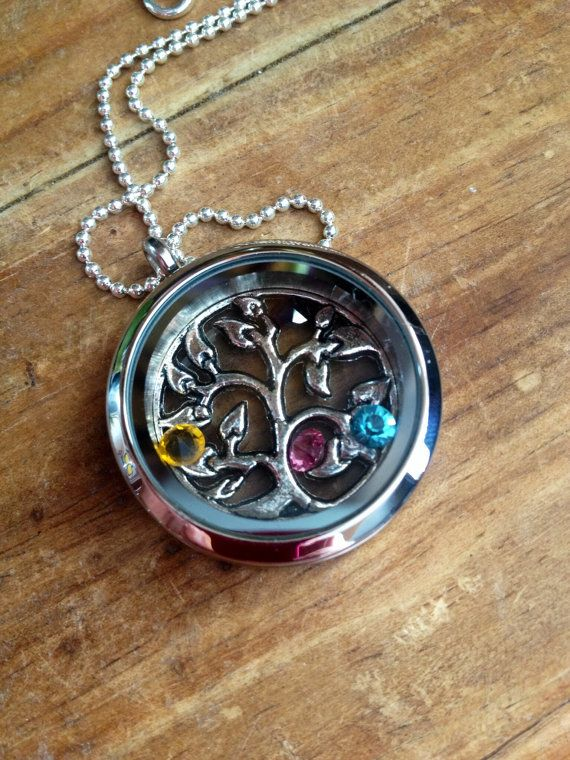 Family Tree Living Floating Locket by lololuv on Etsy,