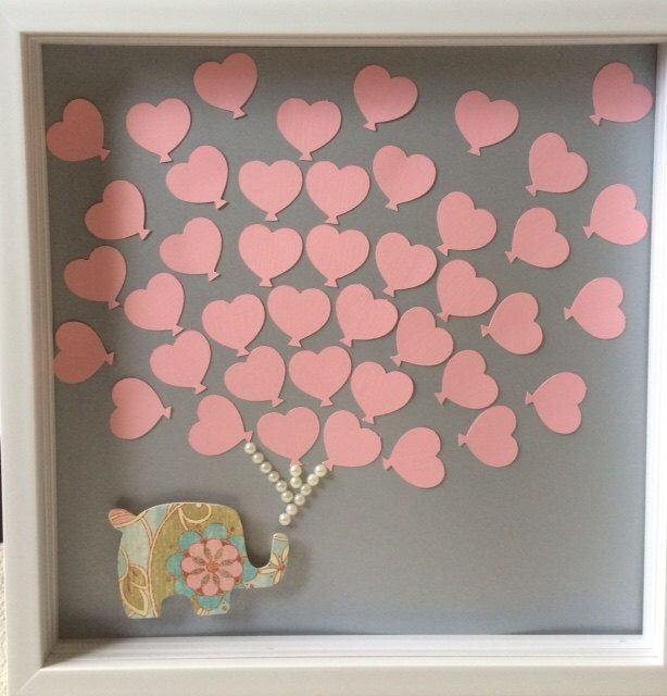 Baby Shower Guest Book Alternative - Baby elephant & Balloon Guestbook - 40 balloons by ItsyBitsyCA on Etsy https://www.etsy.com/listing/239851350/baby-shower-guest-book-alternative-baby