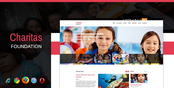 Charitas / Foundation HTML Template