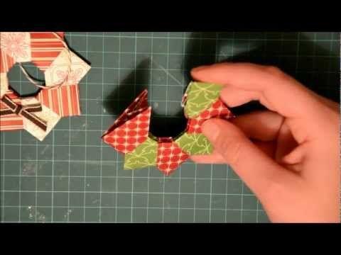 Oragami Christmas Wreath Ornament - YouTube