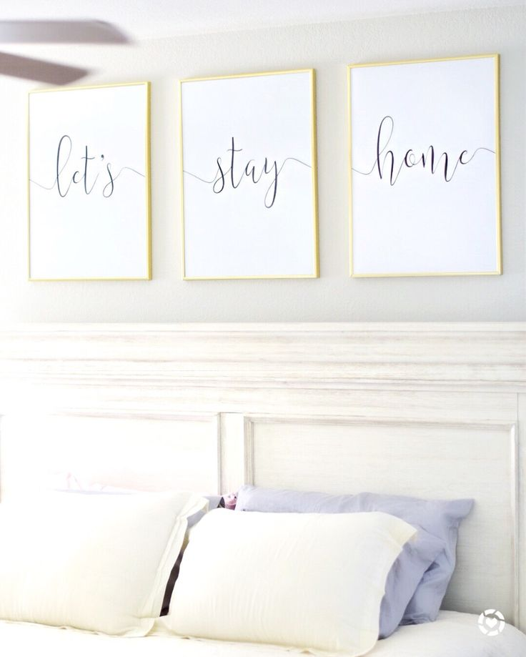 Let's stay home....or different words in frames for guest bedroom