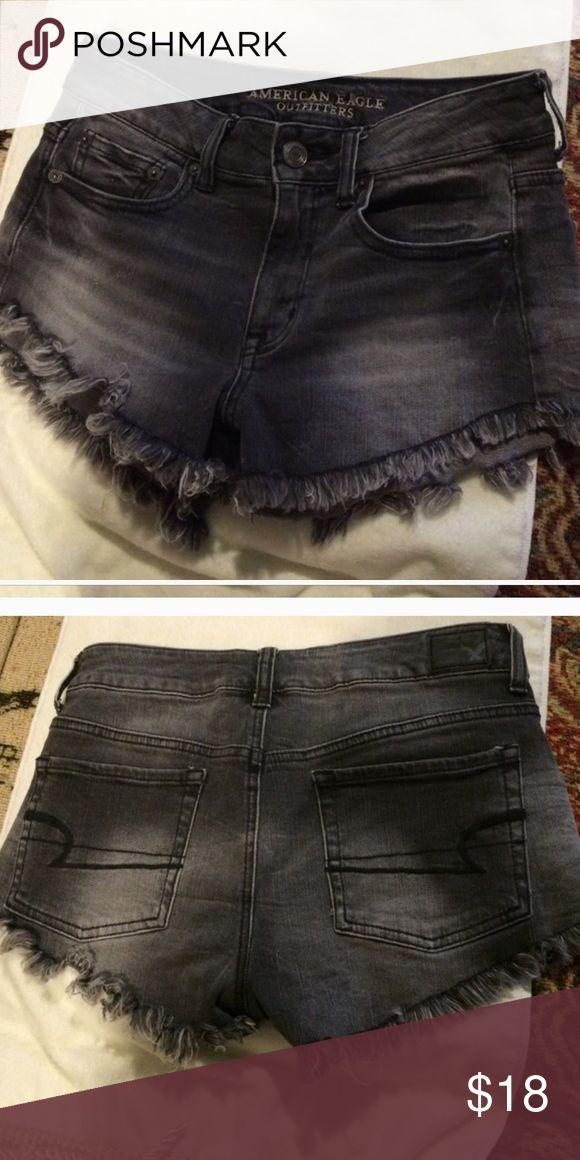 Daisy Duke shorts. High waisted High waist. Daisy duke shorts. American Eagle Outfitters. Black wash denim shorts. In great condition American Eagle Outfitters Shorts Jean Shorts