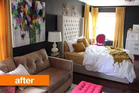 Before & After: From Blank, Black Bedroom to True Oasis
