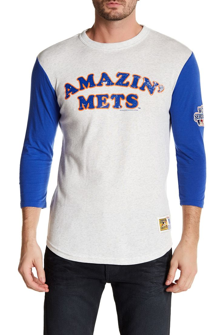 MLB Mets Extra Out 3/4 Length Sleeve Tee