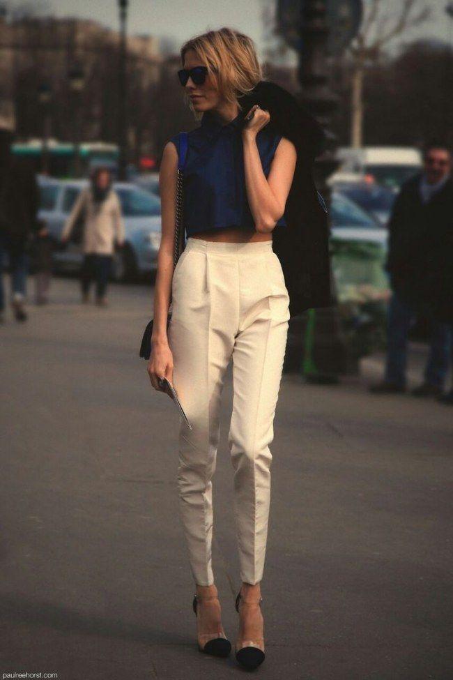 Calça de cintura alta