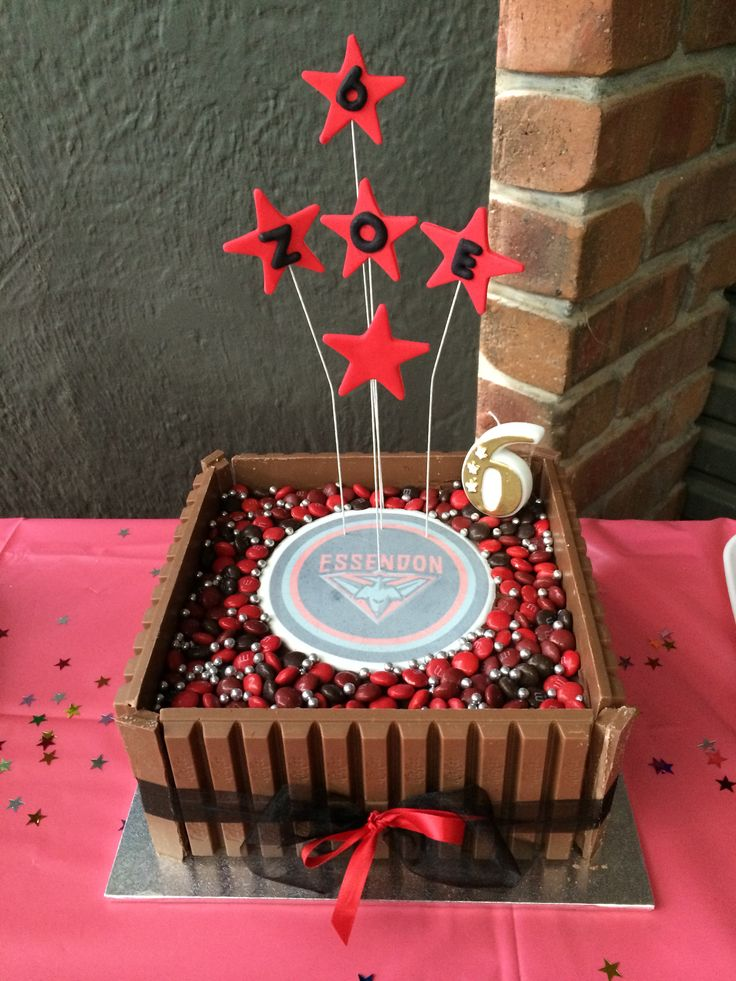 My daughters cake for her 6th birthday. Yes, a huge Essendon fan.