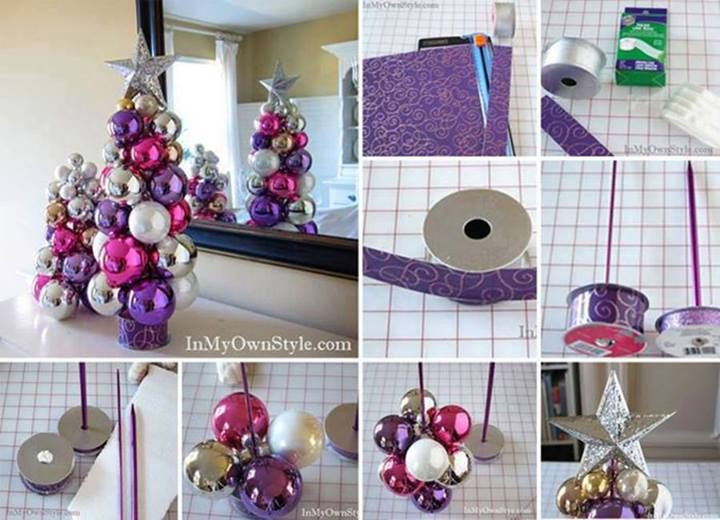 Knitting Needle Ornament Christmas Tree