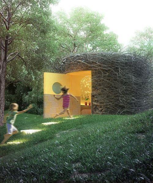 El proyeccto Kids Under Cove nos deja esta maravillosa casa Cubby. Perfecta para dejar volar la imaginación y fantasía