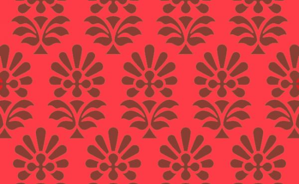 Fabric Indian pattern based on «The Grammar of Ornament» by Owen Jones