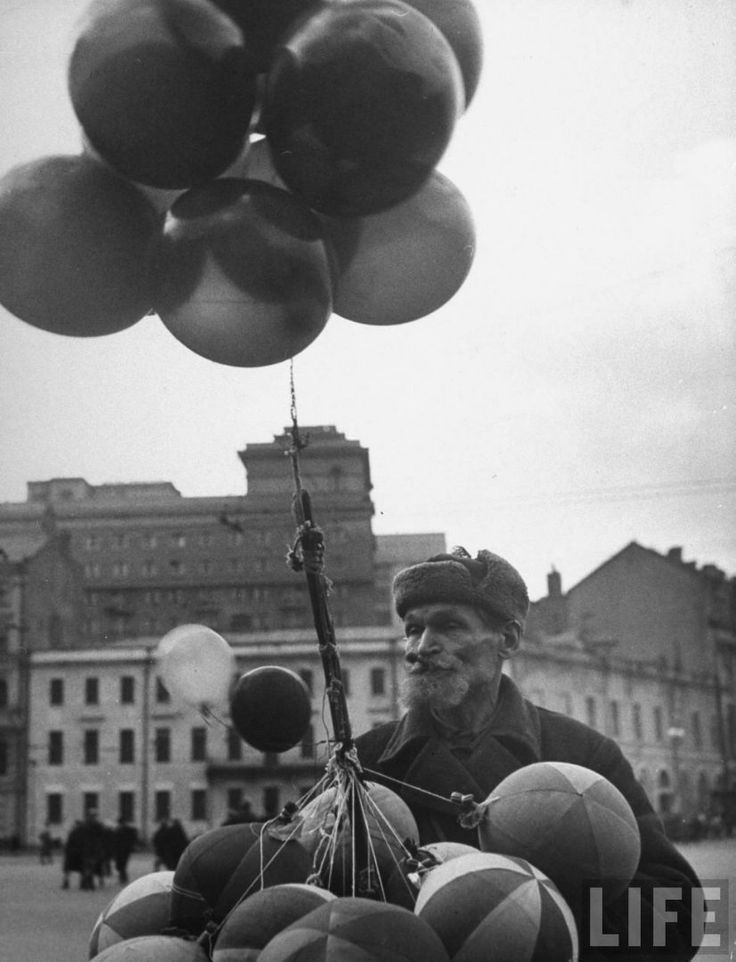 A balloon seller, Moscow, May 1947 by Thomas McAvoy