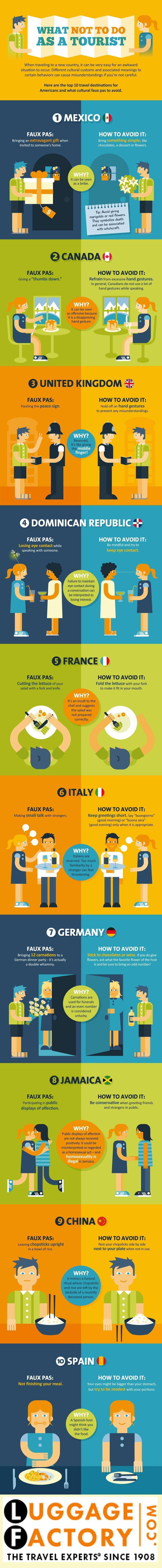 What Not To Do As A Tourist [Infographic] | Daily Infographic