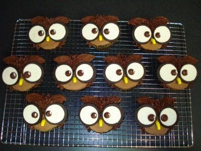 Owl cupcakes: Banana, Food, Cake Ideas, 1St Birthday Cupcakes, Owl Cupcakes, Oreo, Fun, Eye, Birthday Ideas