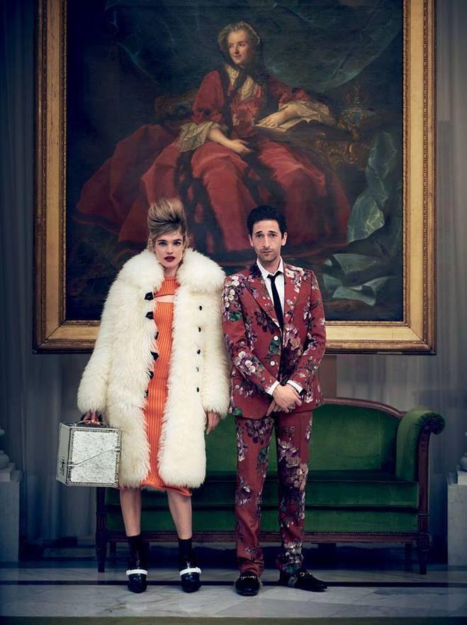 Наталья Водянова и Эдриан Броуди для Vogue US