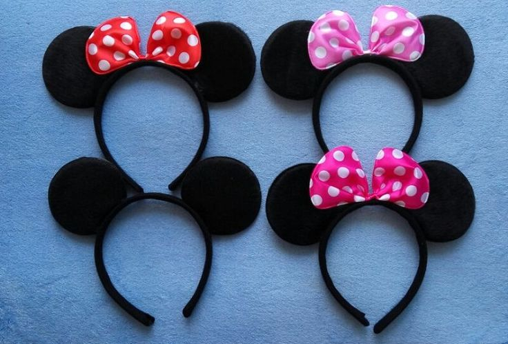 Adult Minnie Mickey Mouse Ears Headband Birthday Party Decoration Kid Minnie Mickey Mouse Party Supplies Bow