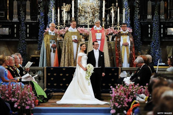 Crown Princess Victoria of Sweden married her former personal trainer, Daniel Westling, in a lavish ceremony at Stockholm Cathedral. #HRH Crown Princess Victoria of Sweden #Daniel Westling